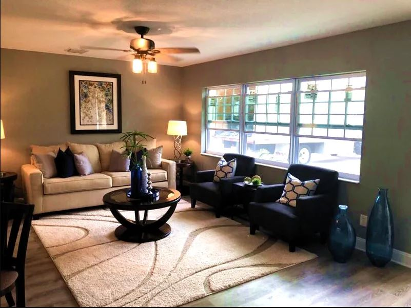 Traditional Living Room Staging Project - Largo, FL